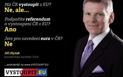 Jiří Hynek, prezidentský kandidát 2018