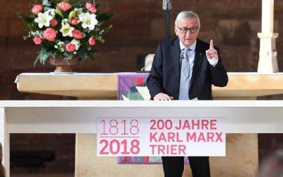 Reportáž: Juncker účastí na Marxově jubileu plive do tváře východní Evropě