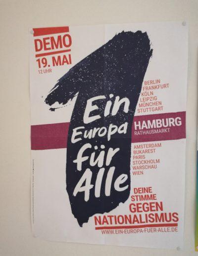 Jedna Evropa pro všechny – tvůj hlas proti nacionalismu (plakát ze školy, ve které učí Monika)